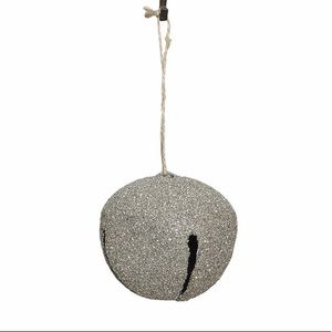 Creative Co-Op Large Glitter Bell Ornament Gold